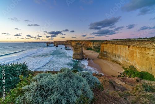 Cuadros en Lienzo  twelve apostles at sunset,great ocean road at port campbell, australia 147