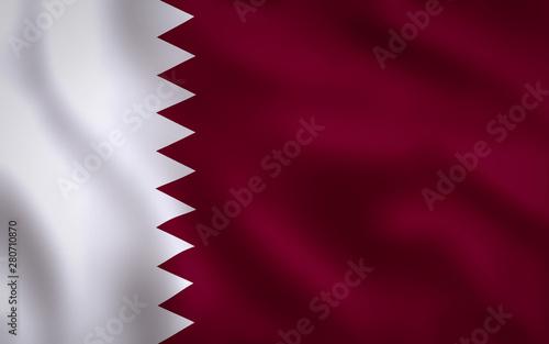 Fotografie, Obraz  Qatar Flag Image Full Frame