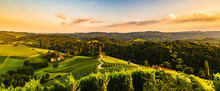 Famous Heart Shaped Street At Vineyards In Slovenia Close To The Border With Austria South Styria.