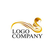 Hijab Logo Icon For Fashion Product Sign