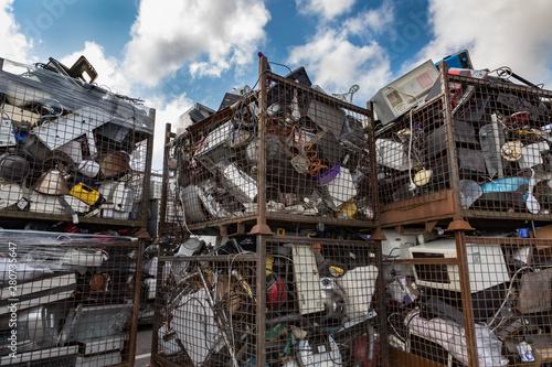 Vászonkép  pile of mixed electronic waste