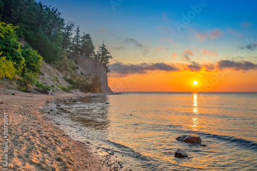 Fototapeta Sunrise over the Baltic Sea obraz na płótnie