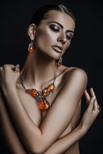 Amber In Necklace