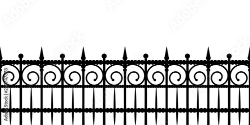 Photo Silhouette of a fence