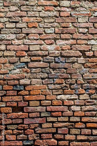 Okleiny na drzwi cegła  old-red-brick-wall-retro-wall-background