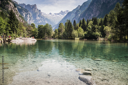 A day in the largest natural reserve in Lombardy, the Val di Mello Wallpaper Mural