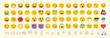Vector emoticon set. Emoji pack