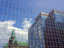 Reflection Of Parlaiment Nuilding In Ottawa Downtown