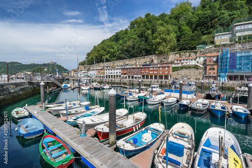 Fotografie, Obraz  The harbour in San Sebastian Donestia Basque Country