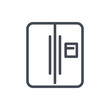 Refrigerator line icon. Vector outline sign.