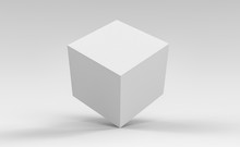 3d Cube Box Render On Isolated...