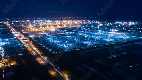 aerial view at night factor...