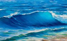 Big Crashing Wave, Painting Seascape