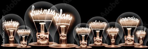 Light Bulbs Concept Canvas-taulu