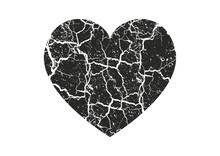 Isolated Distress Grunge Heart...