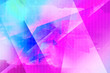 canvas print picture - Bright, polygonal, abstract triangles blue and pink backgroundround.