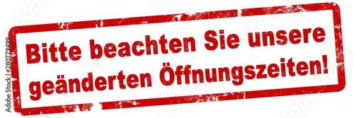 nlsb862 NewLongStampBanner nlsb - german text - Bitte beachten Sie unsere geände Canvas