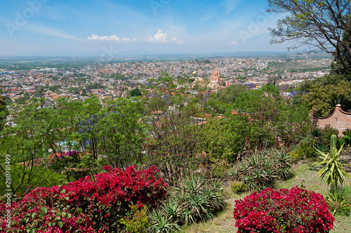 Fototapeta premium Wioska San Miguel De Allende, stan Guanajuato, Meksyk