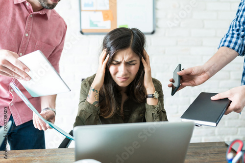 Professional Unable To Cope With Assigned Tasks Canvas Print