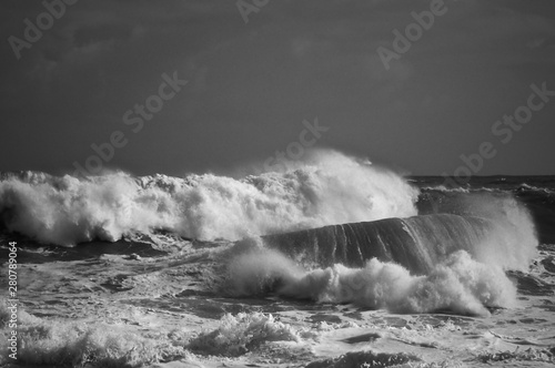 Photo Stands Pale violet stormy seas in moncochrome