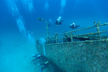 Wreck Of A Cargo Ship, Vis, Croatia