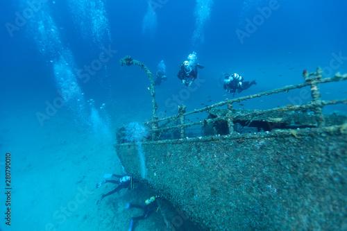 Poster Naufrage Wreck of a Cargo Ship, Vis, Croatia