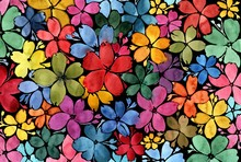 Pattern Of Flowers Of Differen...