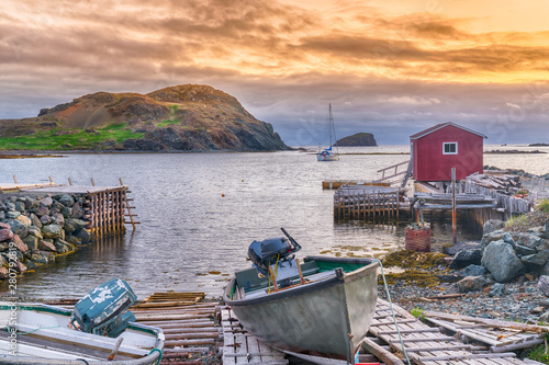 Fotografija Sunset in fishing village in Newfoundland, Canada