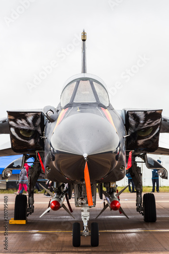 German Air Force Tornado IDS captured at the 2019 Royal International Air Tattoo at RAF Fairford Canvas Print