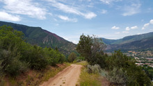 Dirt Path In The Mountains Above Glenwood Springs Town