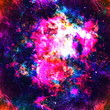 Colorful Watercolor Abstract background. Multicolor grunge psychedelic pink blue texture with spots. Multicolor style digital painting. Blurred chaotic brush and tie dye pattern. Hand painting fabrics