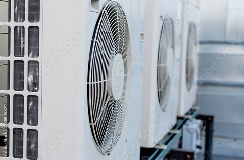 Three mini-split air condtioners Canvas Print