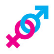 canvas print picture - Gender equality symbol
