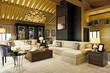 3d render of american living room