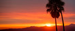 canvas print picture - Wide Angle California Sunset