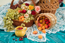 Baskets And Fruits