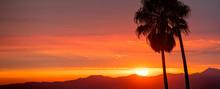 Wide Angle California Sunset