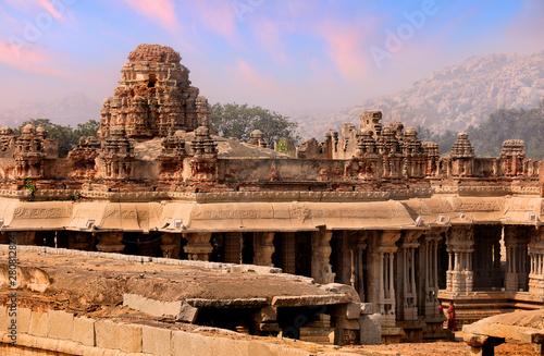 Historic Vijaya Vittala temple in Hampi runes in India