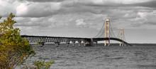 Historic Mackinaw Bridge -longest Suspension Bridge In America