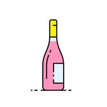 Wine Bottle Line Icon. Alcohol...