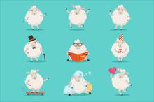 Cute Little Sheep Cartoon Char...