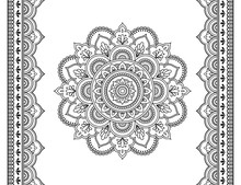 Set Of Mandala Pattern And Sea...