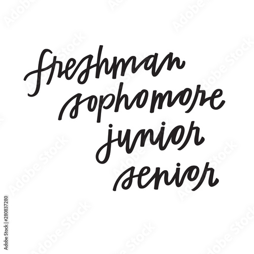 Freshman, Sophomore, Junior, Senior Canvas Print