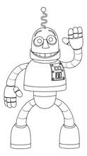 A Friendly Robot Kids Coloring...