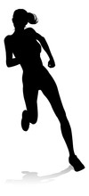Silhouette Runner In A Race Tr...