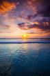 canvas print picture - Radiant sea beach sunset
