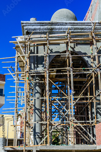 Construction of mosque in El Dahar district of the Hurghada city, Egypt