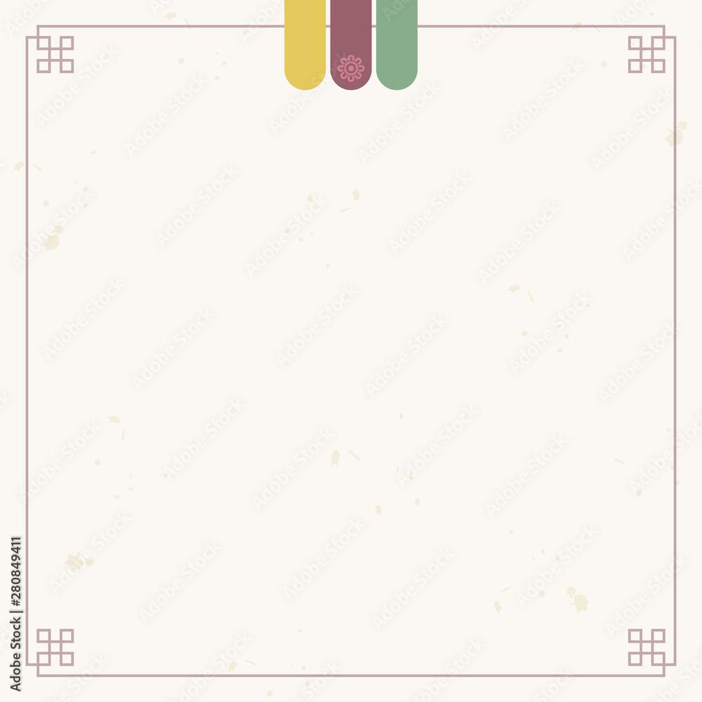 Fototapeta Korean traditional paper frame background