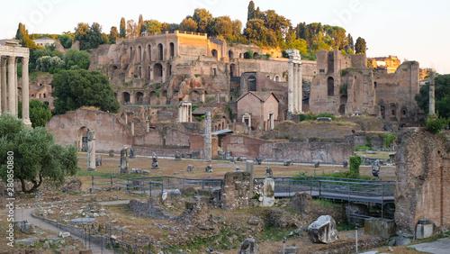Photo ancient Rome. excavation. square venice