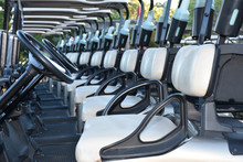 Rows Of Chairs Golf Cart